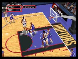 In game image of NBA: In the Zone 2000 on the Nintendo N64.