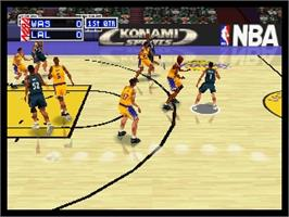 In game image of NBA: In the Zone 2 on the Nintendo N64.