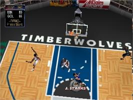 In game image of NBA Jam 2000 on the Nintendo N64.
