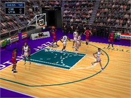 In game image of NBA Jam 99 on the Nintendo N64.