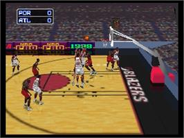 In game image of NBA Pro 98 on the Nintendo N64.