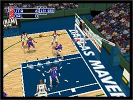 In game image of NBA Pro 99 on the Nintendo N64.