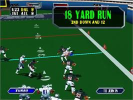 In game image of NFL Blitz on the Nintendo N64.