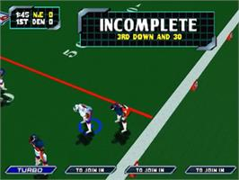 In game image of NFL Blitz 2000 on the Nintendo N64.