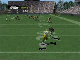 In game image of NFL Quarterback Club '99 on the Nintendo N64.