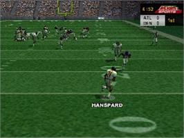 In game image of NFL Quarterback Club 2000 on the Nintendo N64.