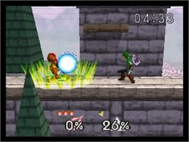 In game image of Nintendo All-Star! Dairantou Smash Brothers on the Nintendo N64.