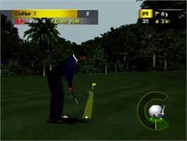 In game image of PGA Golf European Tour on the Nintendo N64.
