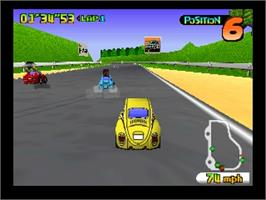 In game image of Penny Racers on the Nintendo N64.