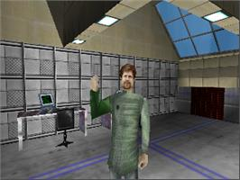 In game image of Perfect Dark on the Nintendo N64.