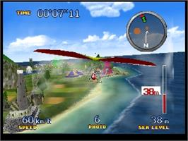 In game image of Pilotwings 64 on the Nintendo N64.