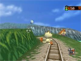 In game image of Pokemon Snap on the Nintendo N64.