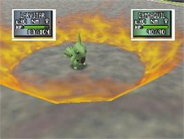In game image of Pokemon Stadium 2 on the Nintendo N64.