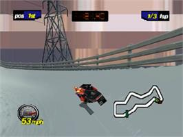 In game image of Polaris SnoCross on the Nintendo N64.