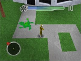 In game image of Power Rangers: Lightspeed Rescue on the Nintendo N64.