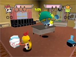 In game image of Powerpuff Girls: Chemical X-Traction on the Nintendo N64.