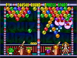 In game image of Puzzle Bobble 64 on the Nintendo N64.