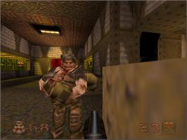 In game image of Quake on the Nintendo N64.