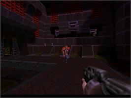 In game image of Quake 2 on the Nintendo N64.