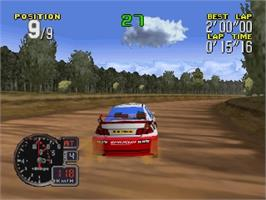 In game image of Rally '99 on the Nintendo N64.