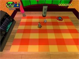 In game image of Rat Attack on the Nintendo N64.