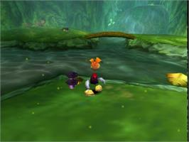 In game image of Rayman 2: The Great Escape on the Nintendo N64.
