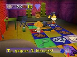 In game image of Razmoket: La Chasse Aux Tresors on the Nintendo N64.
