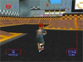 In game image of Razor Freestyle Scooter on the Nintendo N64.