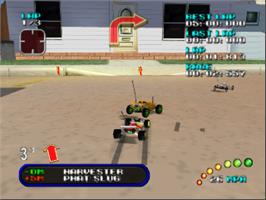 In game image of Re-Volt on the Nintendo N64.