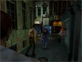 In game image of Resident Evil 2 on the Nintendo N64.