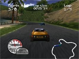 In game image of Roadsters: Trophy on the Nintendo N64.