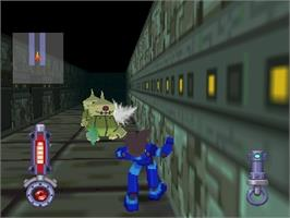 In game image of Rockman Dash: Hagane no Boukenshin on the Nintendo N64.