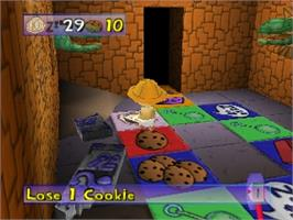 In game image of Rugrats: Treasure Hunt on the Nintendo N64.