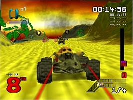 In game image of S.C.A.R.S. on the Nintendo N64.