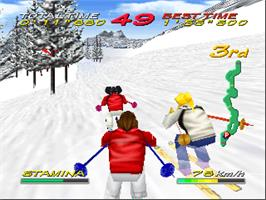 In game image of Snow Speeder on the Nintendo N64.