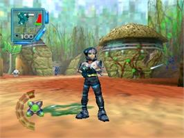 In game image of Star Twins on the Nintendo N64.