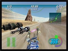 In game image of Star Wars: Episode I - Racer on the Nintendo N64.