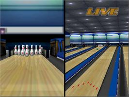 In game image of Super Bowling on the Nintendo N64.