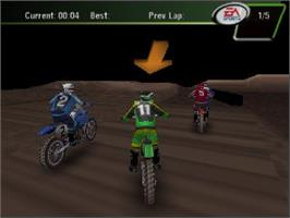 In game image of Super Cross 2000 on the Nintendo N64.