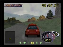 In game image of TG Rally 2 on the Nintendo N64.