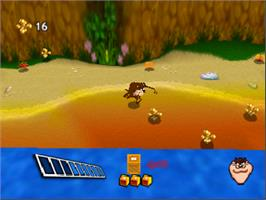 In game image of Taz Express on the Nintendo N64.