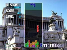 In game image of Tetris 64 on the Nintendo N64.