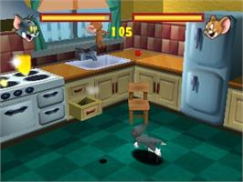 In game image of Tom and Jerry: Fists of Furry on the Nintendo N64.