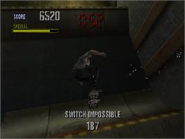 In game image of Tony Hawk's Pro Skater on the Nintendo N64.
