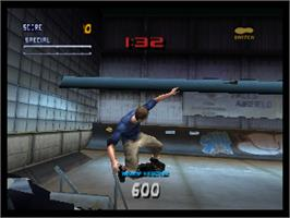 In game image of Tony Hawk's Pro Skater 2 on the Nintendo N64.
