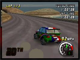 In game image of Top Gear Rally on the Nintendo N64.