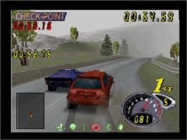 In game image of Top Gear Rally 2 on the Nintendo N64.