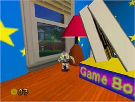 In game image of Toy Story 2: Buzz Lightyear to the Rescue on the Nintendo N64.