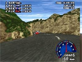 In game image of V-Rally Edition 99 on the Nintendo N64.