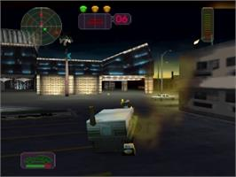 In game image of Vigilante 8: 2nd Offense on the Nintendo N64.